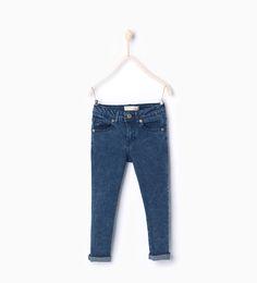 Skinny acid wash denim broek-Back to School-Meisjes (3-14 jaar)-KINDEREN | ZARA Nederland