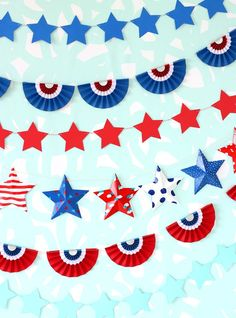 DIY Patriotic Paper Bunting Banners