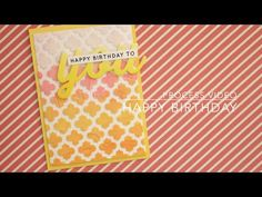 ▶ card #16 - happy birthday to you (colouring embossing paste) - YouTube