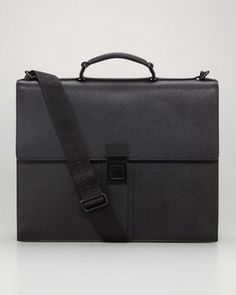 Burberry Leather Briefcase on shopstyle.com