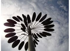 Not sure what this is, (decorative windmill) at St. Louis botanical gardens, shot from underneath