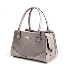 Pet Bag Cat Puppy Dog Bag Fashion Handbag Faux Leather Travel Bag Carrier (Gray) BELLAMORE GIFT http://www.amazon.com/dp/B0132SWVMG/ref=cm_sw_r_pi_dp_lBqjwb1KBPCTJ