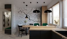 Kuchnia - projekt EKK Pracownia Projektowa Bar, Table, Furniture, Home Decor, Decoration Home, Room Decor, Tables, Home Furnishings, Home Interior Design
