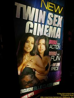 Graffiti on Twin Sex Cinema needs a clean   Cinema Entertainment Graffiti Pend-Management-Action Sex Vandalism