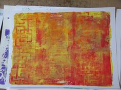 Gelli Plate Prints  made with Gunge Layers paired with a few stencils and some foam stamps.
