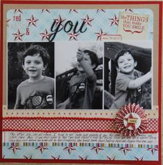 Red White & You - Scrapbook.com - #scrapbooking #layouts #lilybeedesign