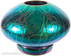 Stuart Abelman: Iridescent Ikebana bowl