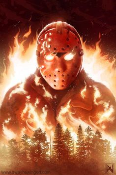 Jason by dmon008 pixelated-nightmares Source: dmon008.deviantart.com - Friday the 13th movie art - found on tumbler