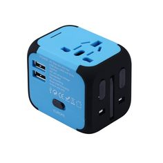 New Universal Travel Adapter Electric Plugs Sockets Converter Us/Au/Uk/Eu With Dual Usb Charging Led Power Indicator Ac Power, E Bay, Plugs, Charger, Android, Display, Free Shipping, Travel, Corks