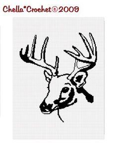 Deer Head Crochet Pattern Graph for Afghan on www