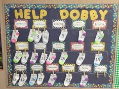 A Harry Potter Classroom Idea! By this decoration students will be happy to do their class jobs to help Dobby! Harry Potter Classes, Harry Potter School, Harry Potter Classroom, Harry Potter Style, Theme Harry Potter, Harry Potter Room, Classroom Jobs, Classroom Design, Classroom Displays