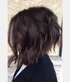 love the short back on this inverted choppy bob