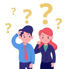 Young business man and woman confused thinking office illustration Premium Vector Cartoon Cartoon, Cartoon Sea Animals, Vector Character, Character Design Animation, Flat Design Illustration, Man Illustration, Amazing Drawings, Colorful Drawings, Cute Cartoon Wallpapers