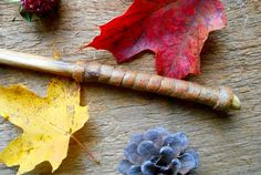 Vine wood magic wand handmade wand with bark by bearpawrustics