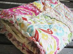 Picnic Quilt Throw Rag Kumari Garden in by southerncharmquilts, $149.00