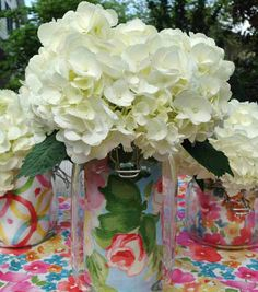 Love this idea!! Find out how you can add #fabric to customize a jar :) @Waverly #waverize