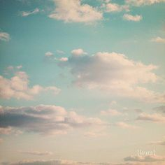 Cloud Photograph, Vintage Inspired, Dreamy Clouds, Big Blue Sky, Baby Nursery, Home Decor, Fine Art Photography