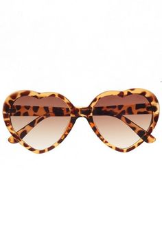 Tortoise heart shaped glasses. Need to add these to my heart sunnies collection.