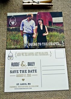 rustic save- the- date (by Wide Eyes Design via Emmaline Bride)
