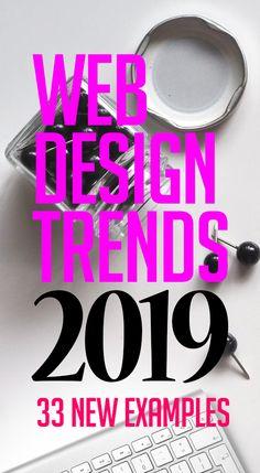 Web Design Trends 2019 – 33 New Website Examples  #webdesign #website #trends