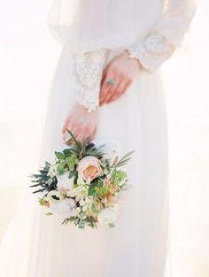 Романтичный образ невесты в стиле винтаж