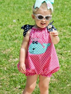 Perfect little one-piece for active babies and toddlers! Baby Bubble Romper PDF Sewing Pattern - Whimsy Couture