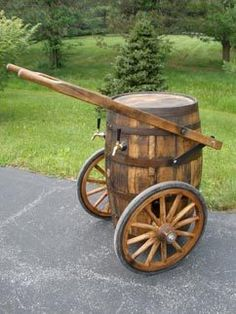 Mobile kegerator from a barrel. pretty sweet!