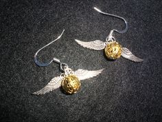 Harry Potter Inspired Mini Golden snitch with by MudInMyBlood.
