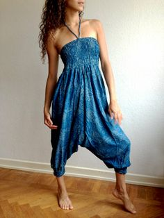 Blue Paisley Pattern Harem Pants.   For more information about #Bindidesigns products, please visit: BindiDesigns.eu