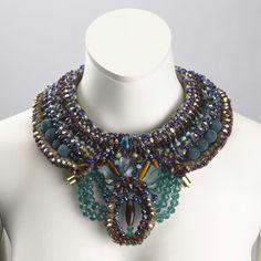 Remi Beaded collar by Anita Quansah London