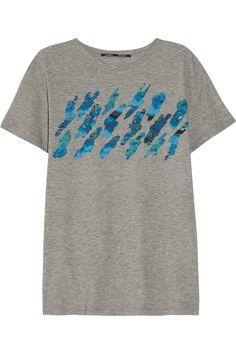 Proenza Schouler Printed cotton-jersey T-shirt NET-A-PORTER.COM