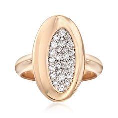 Roberto Coin Capri Carat Total Weight Diamond Ring in Rose Gold. Rose Gold Jewelry, Diamond Jewelry, Gemstone Jewelry, Fine Jewelry, Jewellery, Diamond Bracelets, Diamond Rings, Diamond Engagement Rings, Roberto Coin