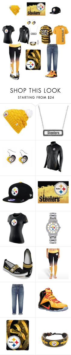 """Pittsburgh Steelers"" by jenabbyreid on Polyvore featuring '47 Brand, NIKE, Milliken, Game Time, The Bradford Exchange, Forever Collectibles, Alexander Wang, The Northwest Company and GameWear"