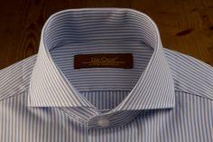 Light Blue Striped Dress Shirt — De Oost Bespoke Tailoring