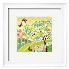 Add a lovely touch to your entryway or master suite with this mod-inspired wall decor, showcasing an outdoor scene motif.    Product: Wall artConstruction Material: Wood, paper, and acrylicColor: White frameFeatures: Ready to hang Note: This product is supplied by Art.comCleaning and Care: Keep out of direct sunlight