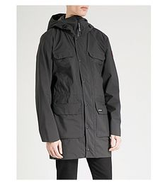 Canada Goose Harbour Adjustable Shell Jacket In Black Black Top Of Mount Everest, Padded Jacket, Cold Day, Canada Goose, Raincoat, Shell, Mens Fashion, Jackets, Clothes