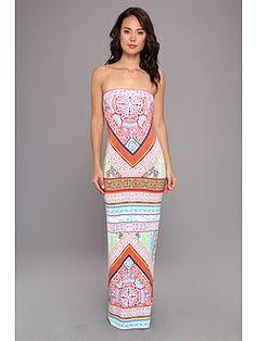Hale Bob Summer Solstice Strapless Maxi Tube Dress