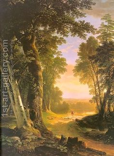 The Beeches - Asher Brown Durand What a beautiful painting! My favorite Hudson River School painter. Hudson River School Paintings, Beautiful Paintings, Landscape Art, Art History, Amazing Art, Scenery, Art Gallery, Fine Art, Artwork