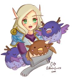 I miss the Moonkin Event so I drew my character with her little friends Blizzard Hearthstone, My Character, World Of Warcraft, I Missed, Gaming, Princess Zelda, Fan Art, Friends, Drawings