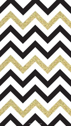 Free Black & Gold Chevron iPhone Wallpaper