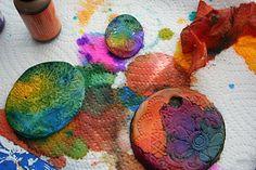 "Marylea aka ""Pink and green mama"" alcohol inks on polymer"