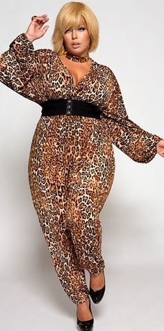 I love jumpsuits and animal print! *faint*