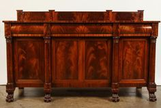 American Mahogany Sideboard Manufactured by Hathaway on The HighBoy
