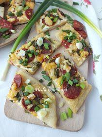 Aleda konyhája: Zöldhagymás lepény Vegetable Pizza, Vegetables, Food, Essen, Vegetable Recipes, Meals, Yemek, Veggies, Eten