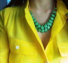 neon! neon blouse combination