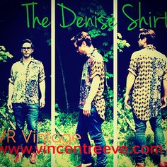 """The Denise Shirt - VR Vintage unisex shirt.  Available now!! #mensfashion #womensfashion #hi-low #vincentreeve #dresstheworld #summertime #vintage"""