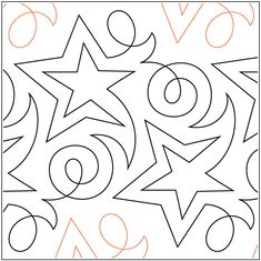 Becker's Shooting Star pantograph pattern by Barbara Becker A single row is inches wide - printed with one row - 144 inches long Quilting Stencils, Quilting Templates, Longarm Quilting, Free Motion Quilting, Quilting Ideas, Machine Quilting Patterns, Quilt Patterns, Quilt Stitching, Custom Quilts