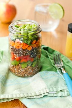 Whole Foods Inspired Layered Salad with Orange Ginger Dressing