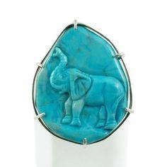 Anello elefante in Magnesite e Ag 925 £85