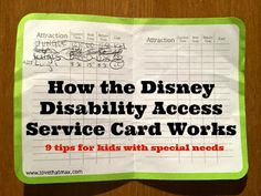 This family's experience with the NEW Disney disability card. Good info!